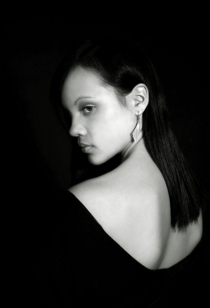 Portrait of women with dark shadows