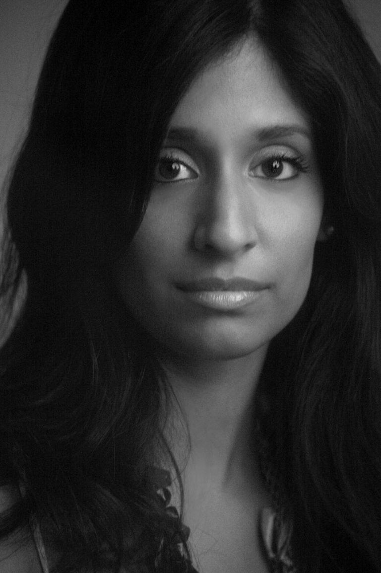 b+w portrait headshot of women