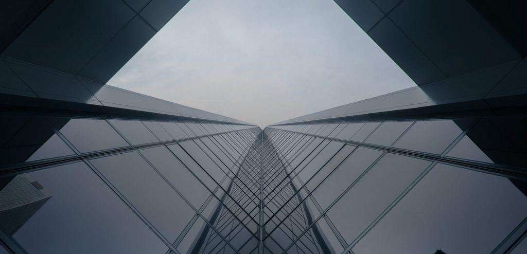grey building upward view