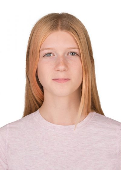 Canadian passport photo of girl